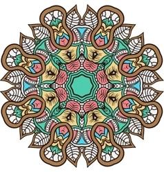 Mandala background henna natural colors vector image