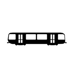 metro flat icon and logo silhouette vector image