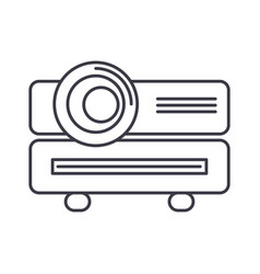multimedia projector line icon sign vector image