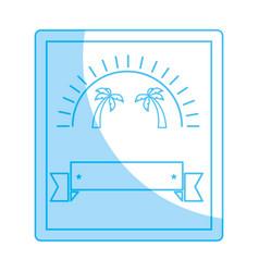 summer advertising blank vector image