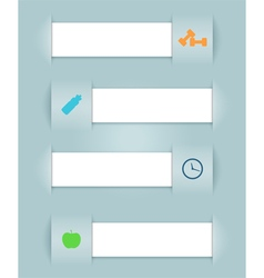 Infographic Ribbons Health Icons vector image