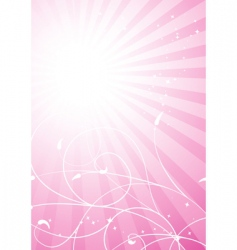 spring pink background vector image vector image