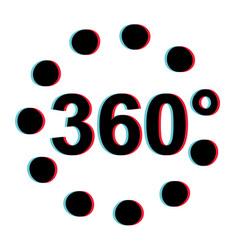 360 degree 3d stereoscopic effect viar vector