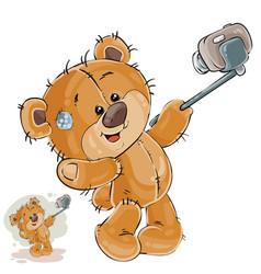 A brown teddy bear makes vector