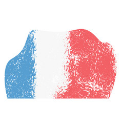 abstract flag sketch of france vector image