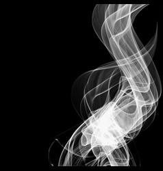 abstract smoke isolated on black background vector image