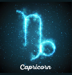 Abstract zodiac sign capricorn on a vector