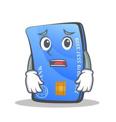 Afraid credit card character cartoon vector