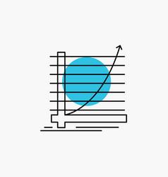 arrow chart curve experience goal line icon vector image