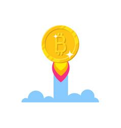 Bitcoin growth start vector