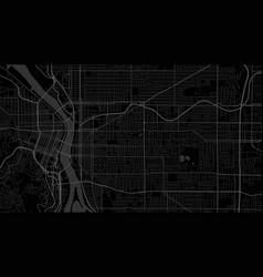 Black and dark grey portland city area background vector