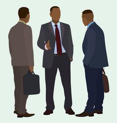 black men talking vector image
