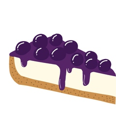 Blueberry cheesecake vector