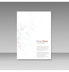Brochure cover with abstract connect patterns vector image