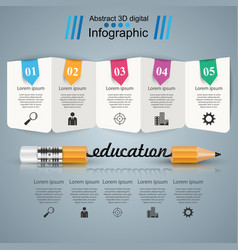 business infographics pencil education vector image
