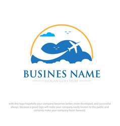 Business travel logo vector