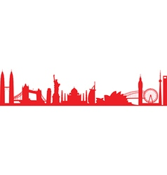 Cityscape worldwide vector