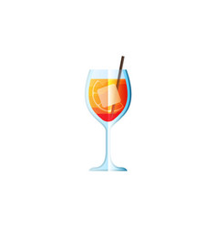 Cocktail spritzin flat style for menu cocktail vector
