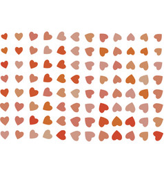 Color abstract heart or love pattern generative vector