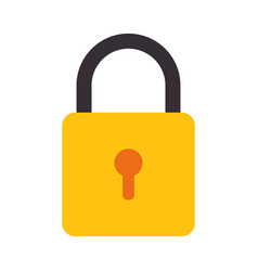Colorful silhouette with closed padlock vector