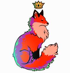 Colour fox2 vector