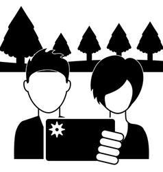 couple selfie vector image
