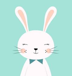 cute cartoon rabbit boy vector image