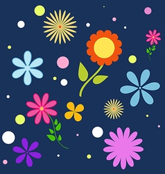 cute simple seamless pattern of flowers vector image vector image