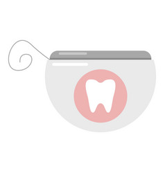dental floss icon flat style vector image