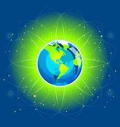 earth beam america continents vector image