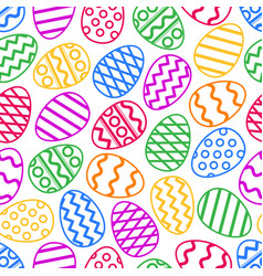 easter eggs colorful seamless pattern vector image
