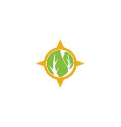 eco compass logo vector image