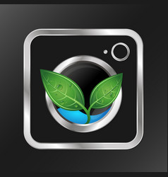 eco wash design vector image