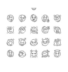 Emotions well-crafted pixel perfect thin vector