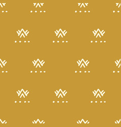 ethnic gold seamless pattern vector image