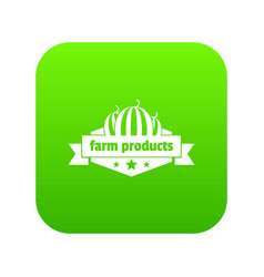 farm products icon green vector image