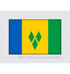 Flag of Saint Vincent and the Grenadines 2 to 3 vector