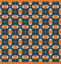 geometric pattern in orange pink and dark blue vector image