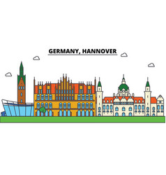 germany hannover city skyline architecture vector image