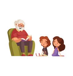 Grandpa flat vector