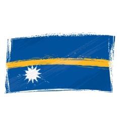 Grunge Nauru flag vector image