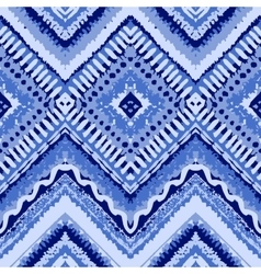 Hand drawn painted seamless blue pattern vector image