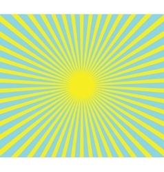 hot summer sun vector image