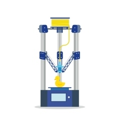 icon - 3d printer printering a toy vector image