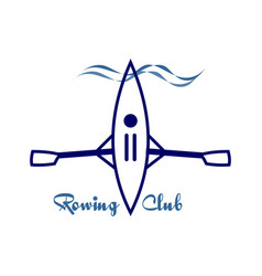 Image emblem for rowing vector