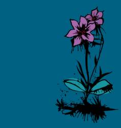 ink flower vector image