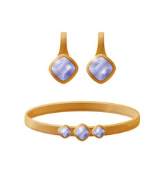 jewelry collection earring vector image