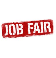 Job fair sign or stamp vector