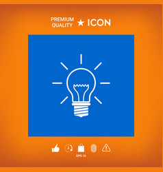 Light bulb - new ideas vector