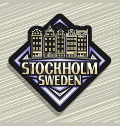 Logo for stockholm vector